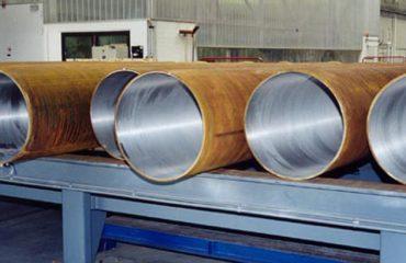 CRA clad pipe