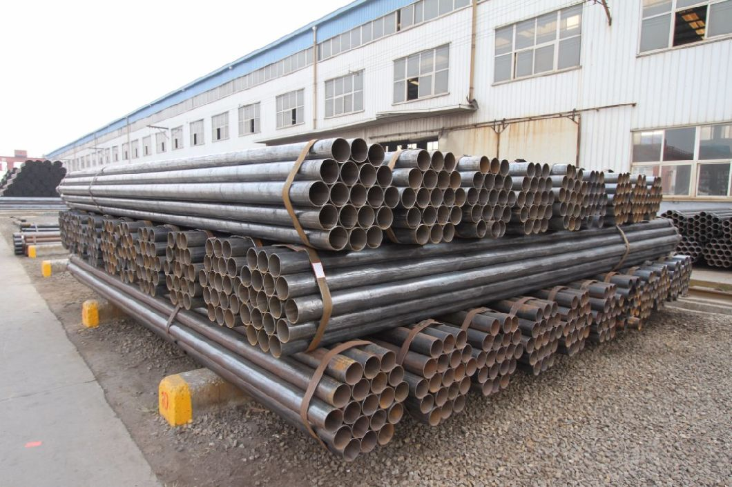 ASTM A53 4inch Black Painted ERW Ms Steel Pipe